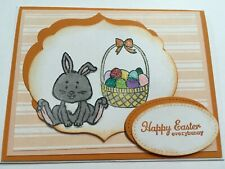 Stampin Up Easter handmade card featuring Bunny with a basket