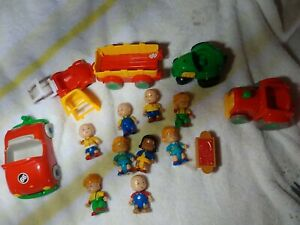 Caillou Toy Lot. Figures and vehicles