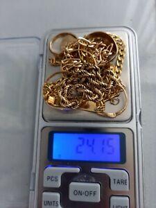 9CT SCRAP GOLD. HALLMARKED. WEIGHT 24.15 GRAMS. HEAVY. HAPPY BIDDING.