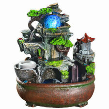 Resin Landscape Indoor Fountains Feature Water Humidifier Desktop Home Decor
