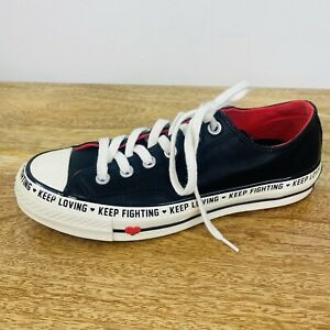 Converse All Star Chuck Taylor Low Top Leather Shoes Love Graphic RARE Size 7