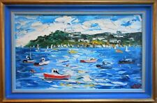 Newlyn Harbour, Cornwall. Original Oil by listed artist Alan Knight 1990