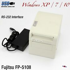 POS PRINTER KASSENDRUCKER FUJITSU FP-510II 510 USB RS-232 FÜR WINDOWS XP 7 10 OK