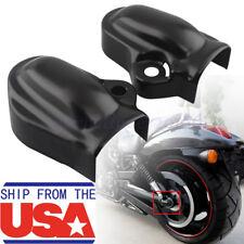 Black Bar&Shield Rear Axle Covers swingarm For Harley VRSC V-Rod VRSCA 2002-17#