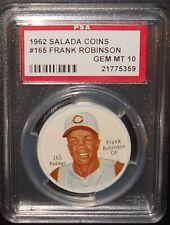 PSA 10 GEM MT 10 - #165 Frank Robinson 1962 Salada Coins Cincinnati Reds RARE!