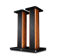90CM Rosewood Speaker Stands Home Theatre 3D Stereo 360° Surround Sound Support