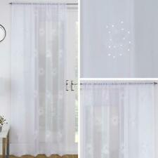 """White Voile Panel with Floral Sequins+59/"""" wide x 53/"""" drop+SALE 60/% OFF+DESIGNER"""