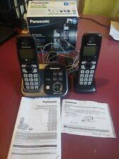 Panasonic KX-TG4732 Dual Handset Cordless Landline Home Phone w/ Answering & box