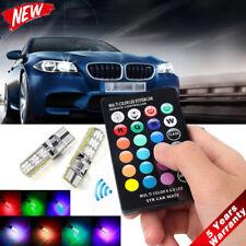2x T10 W5W 5050 RGB Remote Control Car LED Light 6SMD Colorful Side Light Bulb *