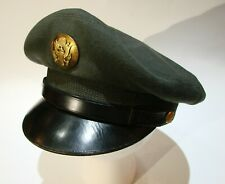 Vintage Us Army Service Crusher Style Cap Enlisted Mens Class 4 Wool Hat
