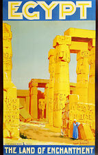 Egypt, 1930 Vintage Travel Advertising Poster Reproduction Canvas Print 20x31