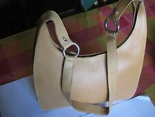 Pan Tan Coloured Leather Shoulder Bag with  Protective Pan Matching Case