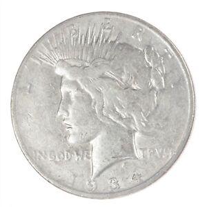 1934-D Peace Dollar AU About Uncirculated JO/2313