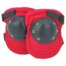 Hard Cap Knee Pads Padded Red And Black Adjustable Fabric 1 Size
