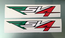 RSV4 Stickers / Decals for Aprilia RSV4 Fairing (Italian Colours or Any colour)