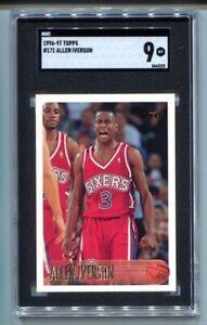 1996 Topps Allen Iverson RC #171 SGC 9 MINT HOF