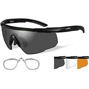 Wiley X Saber Advanced Sunglasses - Smoke Grey/Clear/Rust - Lens - Matte Black