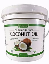 Tropical Plantation Lily of The Desert 100% Organic Refined Coconut Oil 1 Gallon