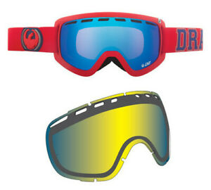 DRAGON ALLIANCE D2 Ski/Snowboard Goggles with Extra Lens
