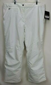 New Obermeyer Womens Waterproof Insulated Sugarbush Ski Pants Size 20 2XL White