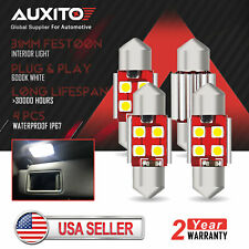 AUXITO 31mm Festoon CANBUS LED Interior License Map Dome Door Light Bulb 6000K