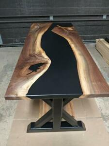 Epoxy Table Live Edge River Table Resin Epoxy Table Wooden Dining Furniture A004