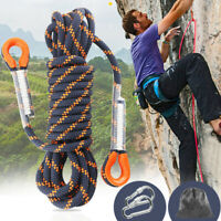 Rock Climbing Caving Safety Sling Rappelling Rope Auxiliary Cord  Equipment 5M