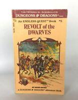 Vintage Book Dungeons & Dragons Endless Quest Revolt of the Dwarves Book #5 D&D