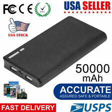 50000mAh Backup External Battery USB Power Bank Pack Charger for Cell Phone USA