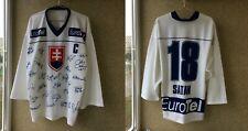 Slovakian National Team Hockey Jersey Xl Signed # 18 Miroslav Satan
