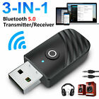 3in1 USB Bluetooth 5.0 Audio Transmitter Receiver Wireless Adapter For TV PC Car