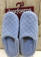 Dearfoams Women's Quilted Terry Clog Mule Slipper Padded Terrycloth Sz XL 11-12