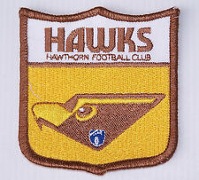 VINTAGE VFL HAWTHORN HAWKS FOOTBALL CLUB EMBROIDERED PATCH WOVEN CLOTH SEW BADGE