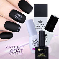 5/7.5/10ml Matte Top Coat Gel Polish Soak Off UV Gel Nail Polish BORN PRETTY