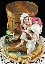 Porcelain Figural Group Meissen Tobacco Jar Mother & Child Water from Cistern