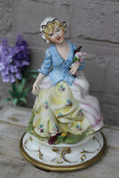 Vintage italian capodimonte porcelain girl figurine statue marked