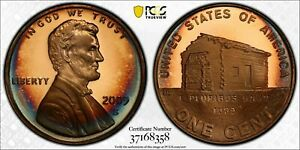 2009-S LINCOLN CENT EARLY CHILDHOOD PCGS PR68RD DCAM BLUE COLOR TONED BU