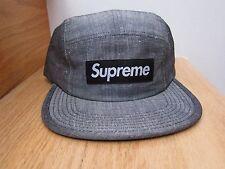 2013 Supreme NYC Melange Box Logo Black Camp Cap Hat NEW