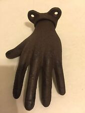 Hand Hanger Hook Plaque Cast Iron Fingers Purse Keys Ring Towel Holder
