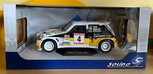 1:18 SOLIDO RENAULT 5 R5 Maxi Turbo N 4 Rally Asturias 1986 Sainz-Boto