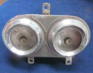 Vintage unknown automobile truck auto car gauge oil pressure temperature untest