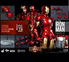 HOT TOYS IRON MAN Mark 3 DIECAST  MMS256-D07 / IM MISB New in SEALED Brown Box