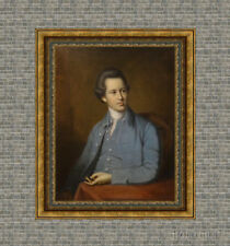 """Old Master Art Antique English Portrait Gentleman Oil Painting on Canvas 30""""x40"""""""