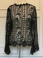 LIPSY BLACK LACE FLARE SLEEVE TOP, BNWT SIZE 16