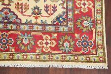 IVORY Geometric Super Kazak Hand-made Area Rug Accent Wool Oriental Carpet 4'x6'