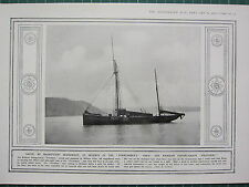 1915 WWI WW1 PRINT ~ BRIXHAM FISHING-SMACK PROVIDENT SAVER OF FORMIDABLE'S CREW