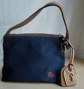 Dooney & Bourke Wristlet Nylon Mini Bag Color Navy/Pink