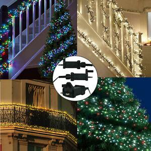 240/480/720/960/2000 LED Christmas Cluster Mains String Fairy Xmas tree lights