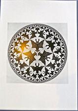 M C Escher Circle Limit IV  BIRDS IN FLIGHT FROM ABOVE-16x11 Offset Lithograph
