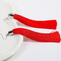 Ligne Boucles d'Oreilles Crochet Longues Pompon Bijoux de Mode